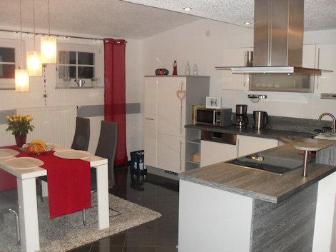 Ferienwohnung - Am Saußbach - - Küche/Essbereich